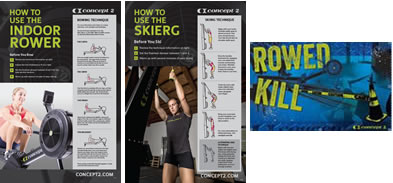 CrossFit Rowed Kill and How To Posters