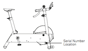 BikeErg serial number location