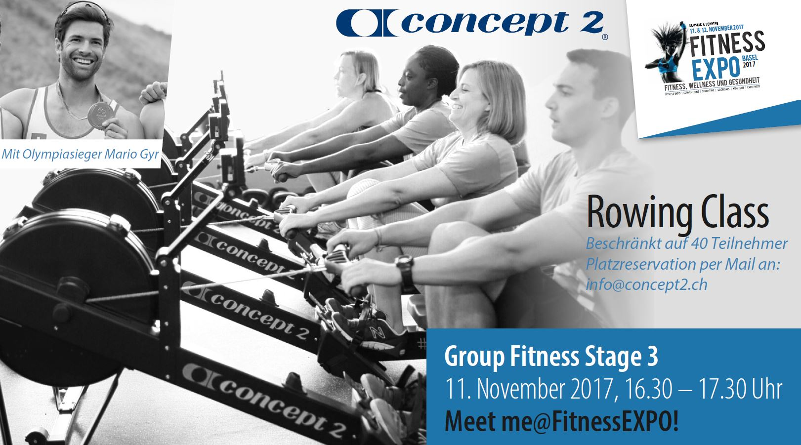 Fitness Expo concept2 Rowing class