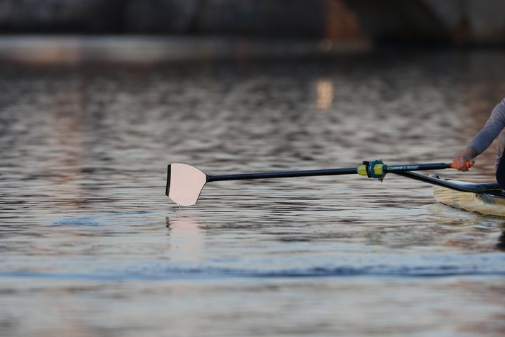 The new Concept2 comp blade on the water